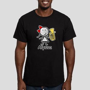 Baritone - Alyssa Men's Fitted T-Shirt (dark)