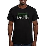 Powered By Veggies Men's Fitted T-Shirt (dark)