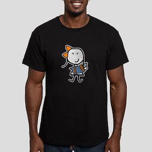 Girl & Accordion Men's Fitted T-Shirt (dark)