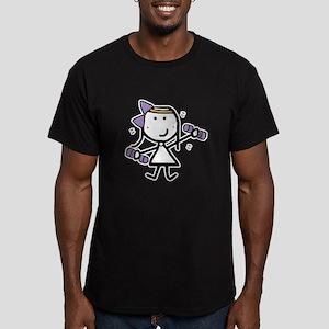 Girl & Exercise Men's Fitted T-Shirt (dark)