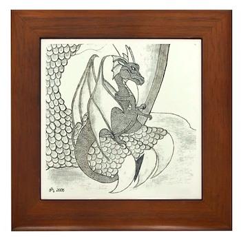 Baby Dragon (Framed Tile)