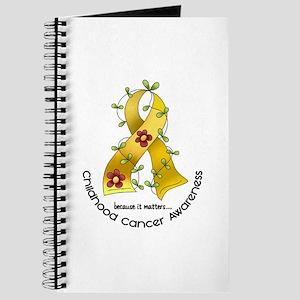 Flower Ribbon CHILD CANCER Journal