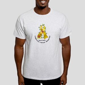 Flower Ribbon CHILD CANCER Light T-Shirt