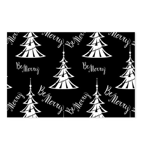 Be Merry Black Christmas Postcards (Package of 8)
