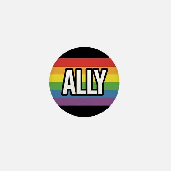 ALLY 1 inch Rainbow Button