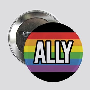 ALLY 2.25 inch Rainbow Button