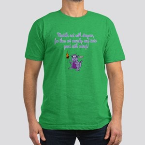 Meddle Not (purple dragon) Men's Fitted T-Shirt (d
