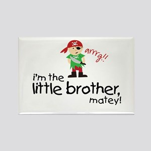 little brother shirt pirate Rectangle Magnet