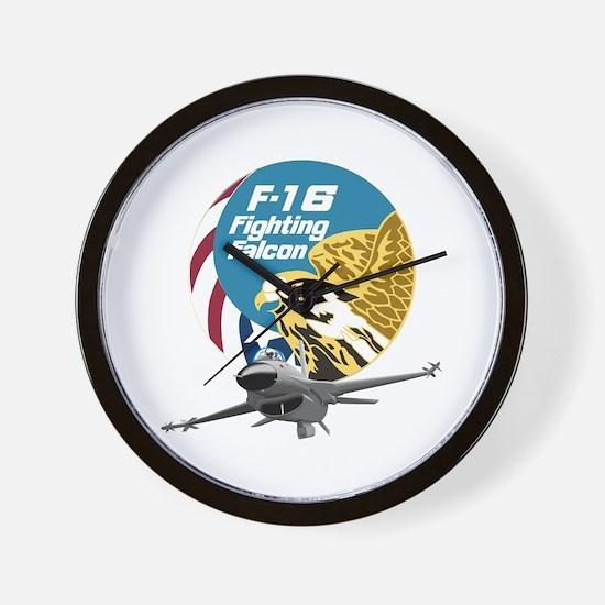 F-16 Fighting Falcon Wall Clock