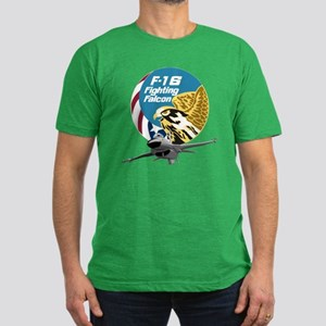 F-16 Fighting Falcon Men's Fitted T-Shirt (dark)