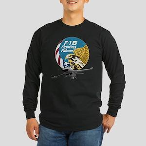 F-16 Fighting Falcon Long Sleeve Dark T-Shirt