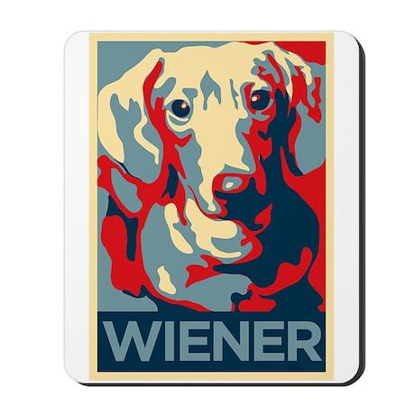 Vote Wiener! Mousepad