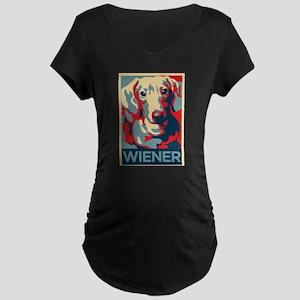 Vote Wiener! Maternity Dark T-Shirt