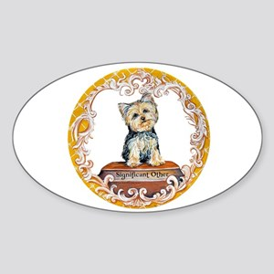 Yorkie Significant Other Oval Sticker