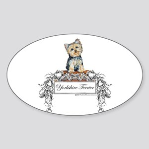 Yorkshire Terrier Small Dog Oval Sticker