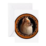 Pomeranian Dog Greeting Cards