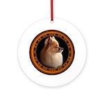Pomeranian Dog Round Ornament