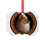 Pomeranian Dog Picture Ornament