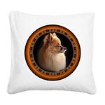 Pomeranian Dog Square Canvas Pillow