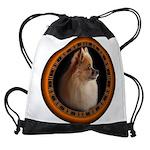 Pomeranian Dog Drawstring Bag