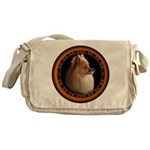 Pomeranian Dog Messenger Bag