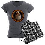 Pomeranian Dog Women's Charcoal Pajamas