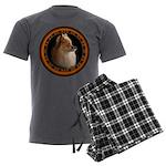 Pomeranian Dog Men's Charcoal Pajamas