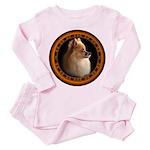 Pomeranian Dog Toddler Pink Pajamas