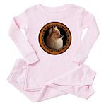 Pomeranian Dog Baby Pink Pajamas