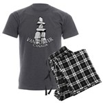 Vancouver Inukshuk Souvenir Men's Charcoal Pajamas