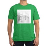 Log Book Entry Men's Fitted T-Shirt (dark)