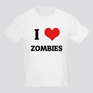I Love Zombies Kids T-Shirt