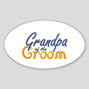 Grandpa of the Groom Oval Sticker
