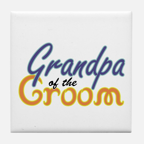 Grandpa of the Groom Tile Coaster