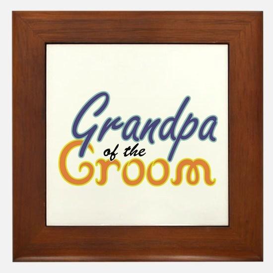 Grandpa of the Groom Framed Tile