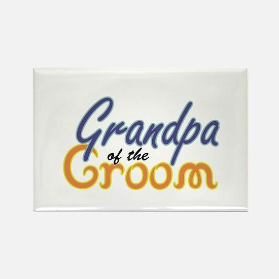 Grandpa of the Groom Rectangle Magnet