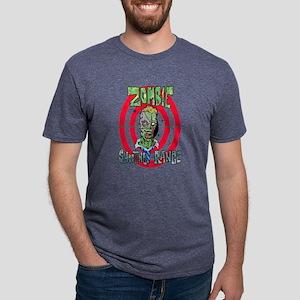 Zombie Shooting Range Mens Tri-blend T-Shirt
