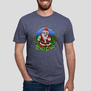 Zombie Claus Mens Tri-blend T-Shirt