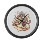 Cookie Mountain Large Wall Clock