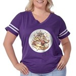 Cookie Mountain Women's Plus Size Football T-Shirt