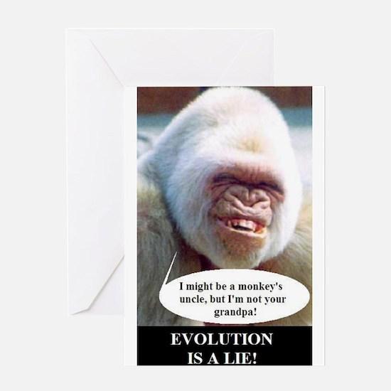 Cute God evolution Greeting Card