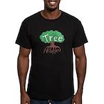 Earth Day : Tree Hugger Men's Fitted T-Shirt (dark