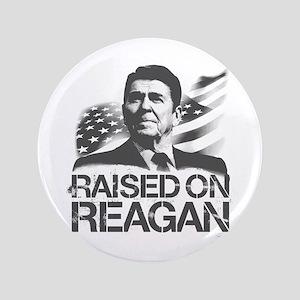"""Raised on Reagan 3.5"""" Button"""
