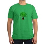 Earth Day / I hug tree Men's Fitted T-Shirt (dark)