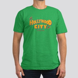 Hollywood City, California. Men's Fitted T-Shirt (