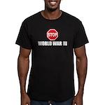 Stop World War 3 Men's Fitted T-Shirt (dark)