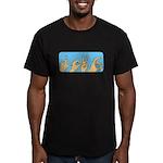 Love & Peace hands Men's Fitted T-Shirt (dark)