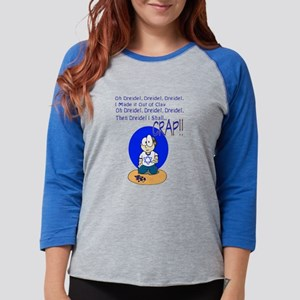 Dreidel Song Womens Baseball Tee