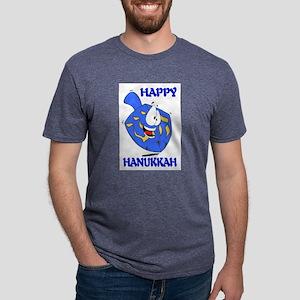 HAPPY HANUKKAH Mens Tri-blend T-Shirt