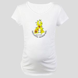 Flower Ribbon SARCOMA Maternity T-Shirt